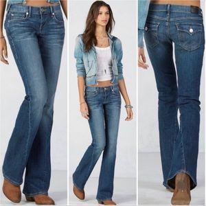 True Religion Joey Flare Blue Jeans